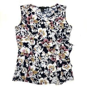 Women's Liz McCoy Sleeveless Floral Blouse, Size S